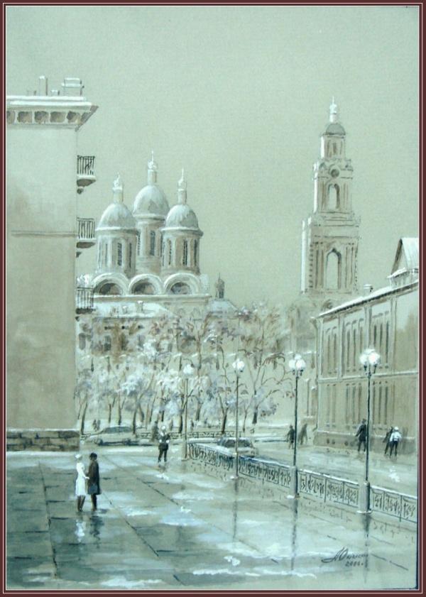 Астраханские пейзажи художника Юрия Анискина (46 фото)