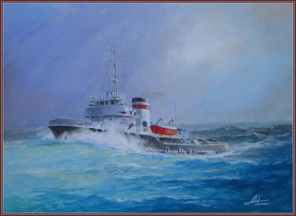 Морская тема художника Юрия Анискина (42 фото)