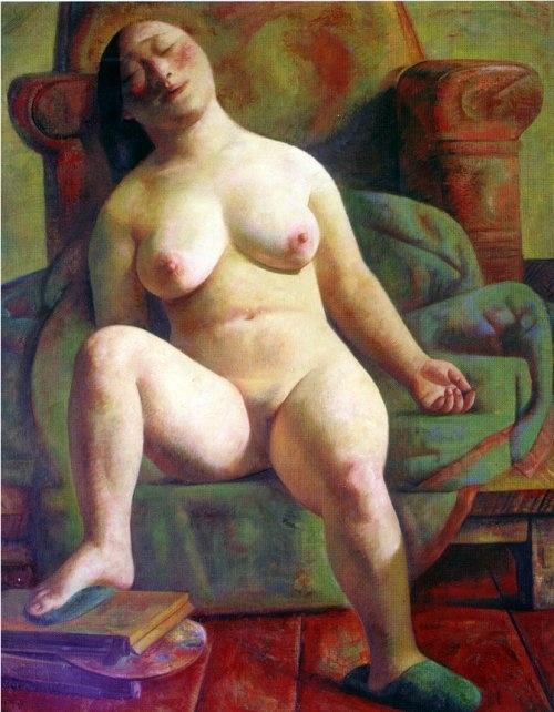 картины советских художников полных обнажённых женщин обоев
