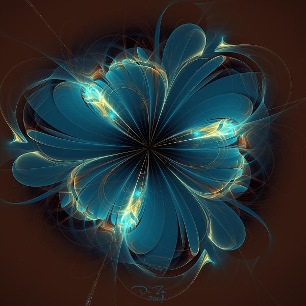 Фрактальные цветы (15 фото)