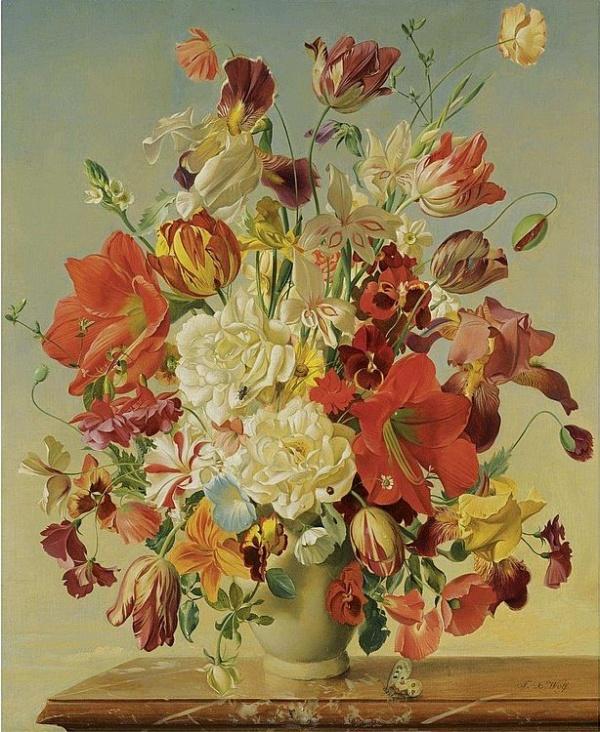 Художник Franz Xaver Wolf (Austrian, 1896-1990)
