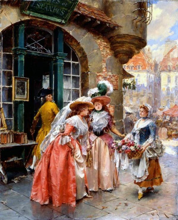 Французский художник Henry Victor Lesur. Жанровые сценки галантного века (29 фото)