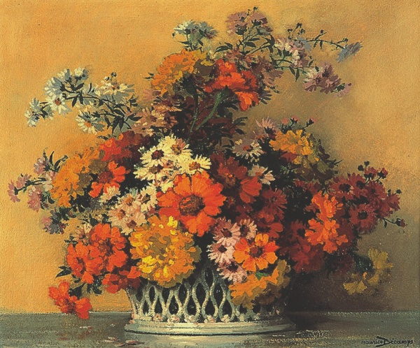 Натюрморты художника Maurice Alfred Decamps (French, 1892-1953) (20 фото)