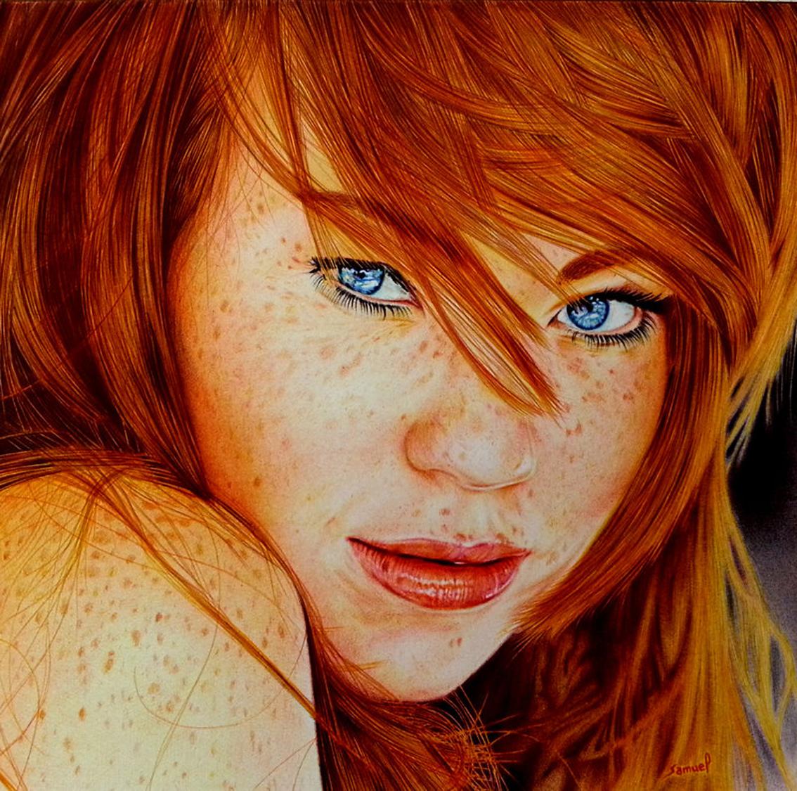Портрет девушка цветной фото