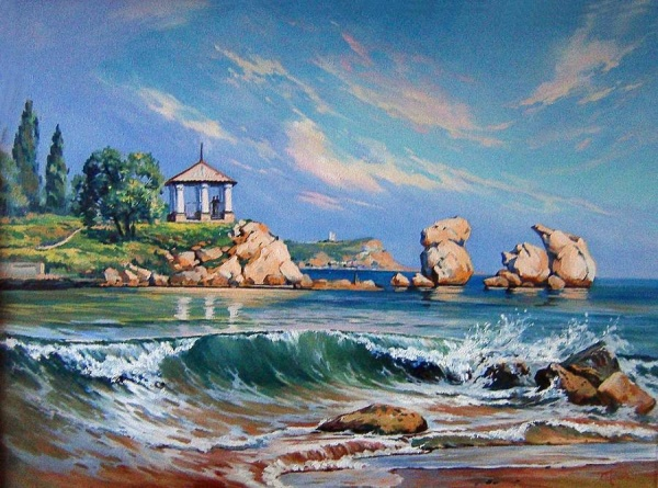 Крымские пейзажи Татьяны Сопиной (22 фото)