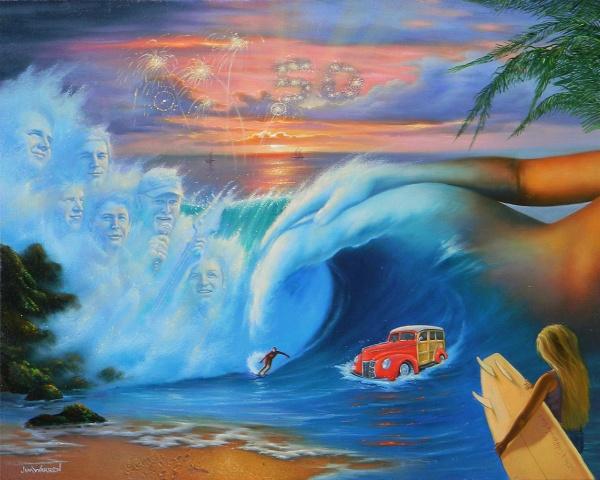 Современный сюрреализм в картинах Джима Уорена (52 фото)