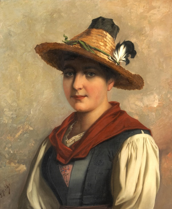 Австрийский художник Josef Buche (Austrian,1848-1917)