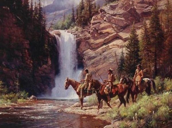 Индейцы и ковбои на картинах Мартина Греля (102 фото)
