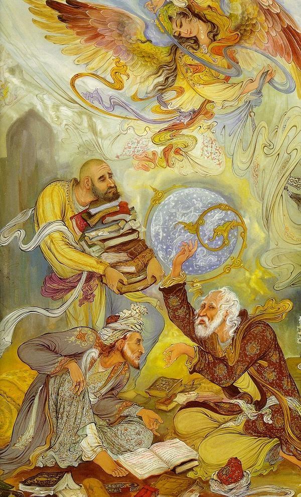 Иранский живописец Ostad Mahmoud Farshchian (88 фото)