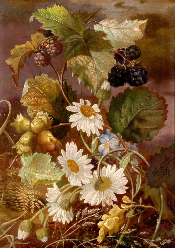 Натюрморты Alexandre Debrus (1843-1905) (14 фото)