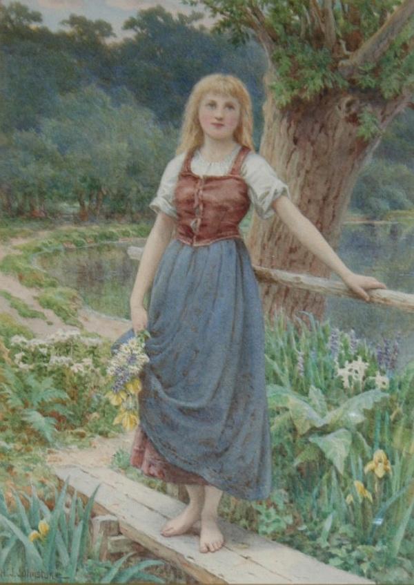 Английский художник Henry James Johnstone (British, 1835-1907) (26 фото)