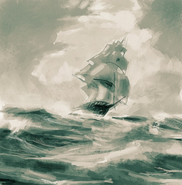 Художник-маринист Montague Dawson (1895–1973)