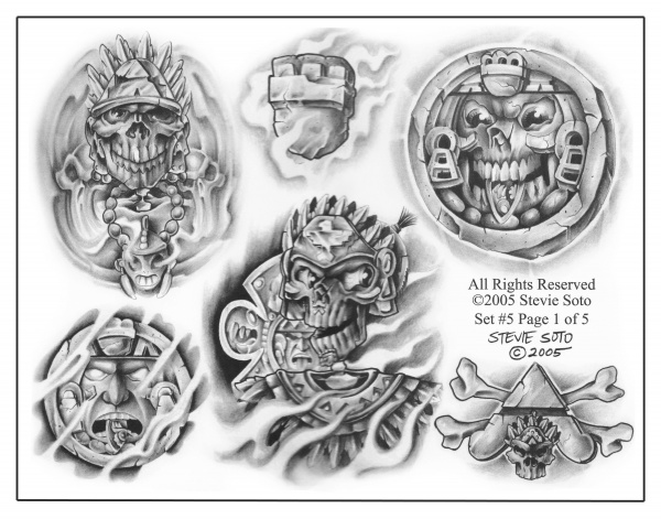 Tattoo Flash Mixed Sheets (118 фото)