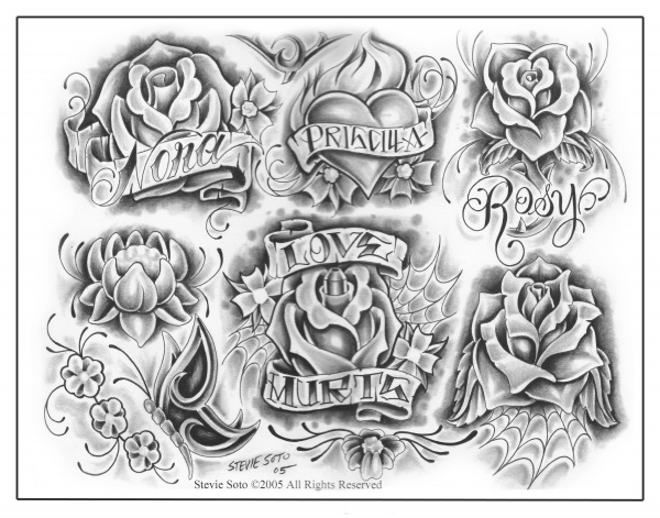 Tattoo Flash Mixed Sheets (118 фото)