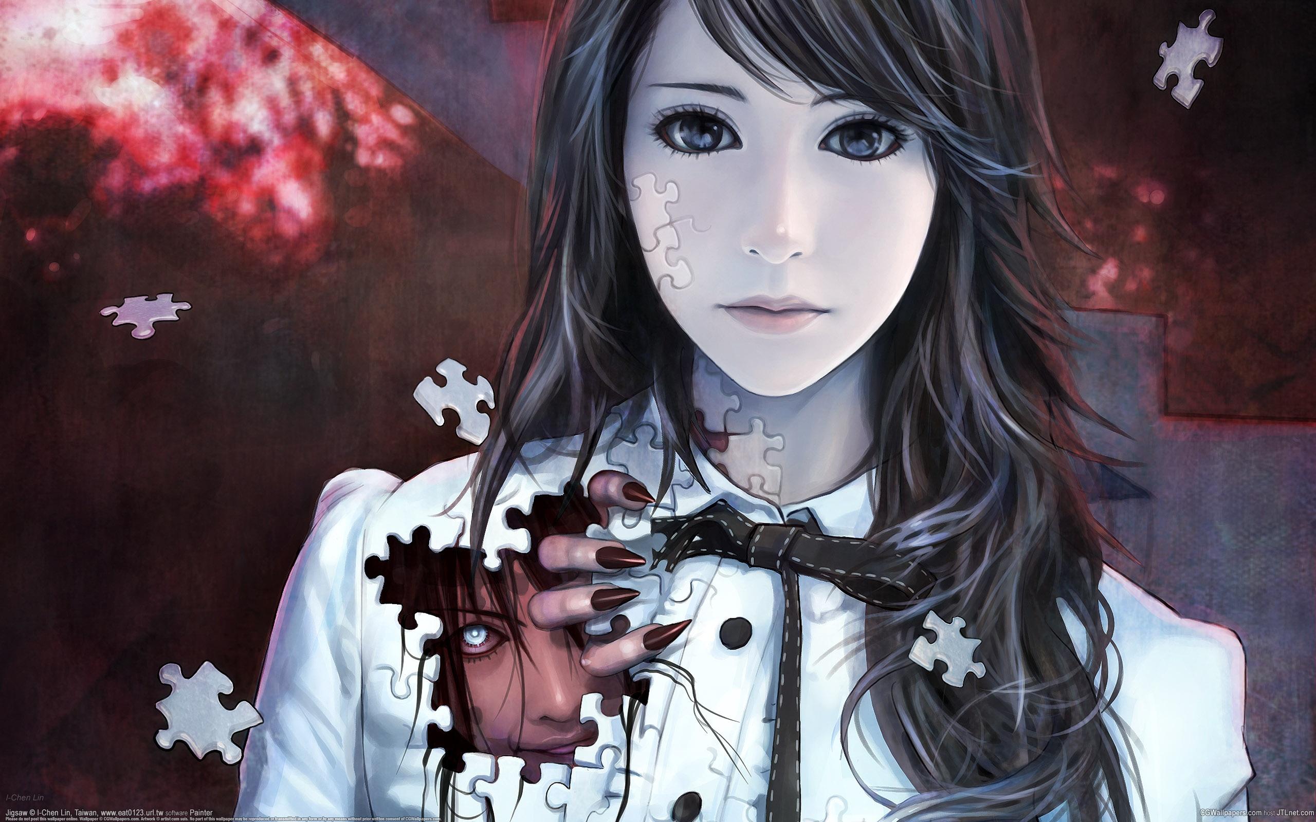 Рисованные красивые девушки из аниме 9 фотография