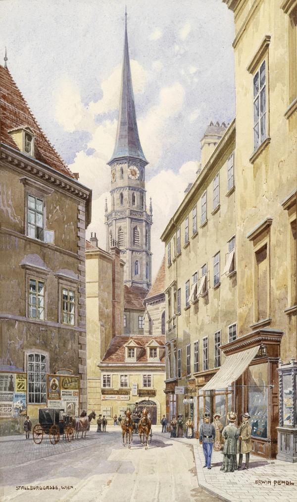 Акварельные работы Erwin Pendl (Austrian, 1875-1945) (26 фото)