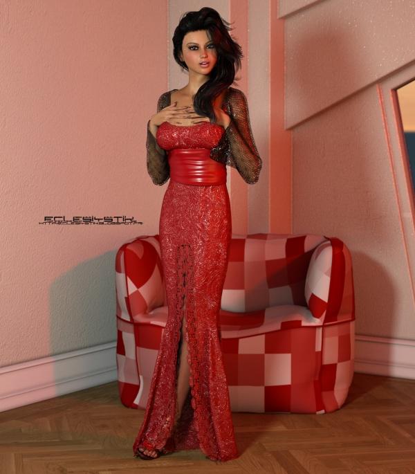 Красивые девушки в 3D формате (02) (370 фото)