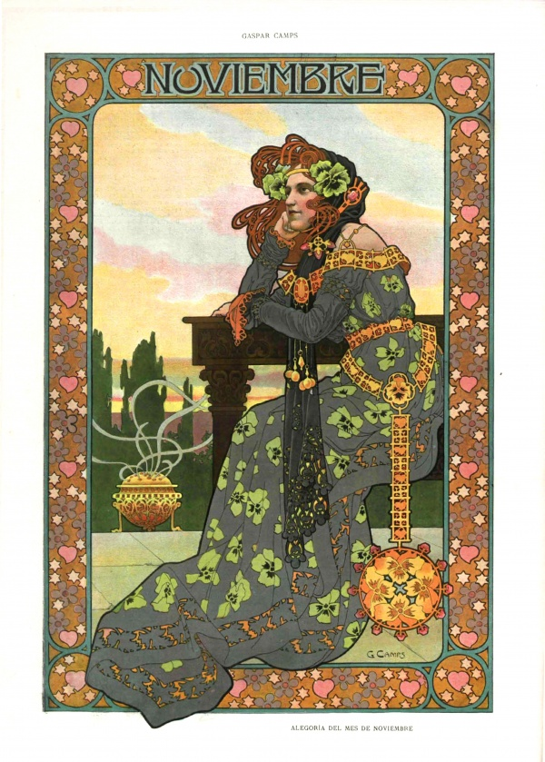 Иллюстрации Гаспара Кампса из журнала Альбом Салон 1901 (13 фото)