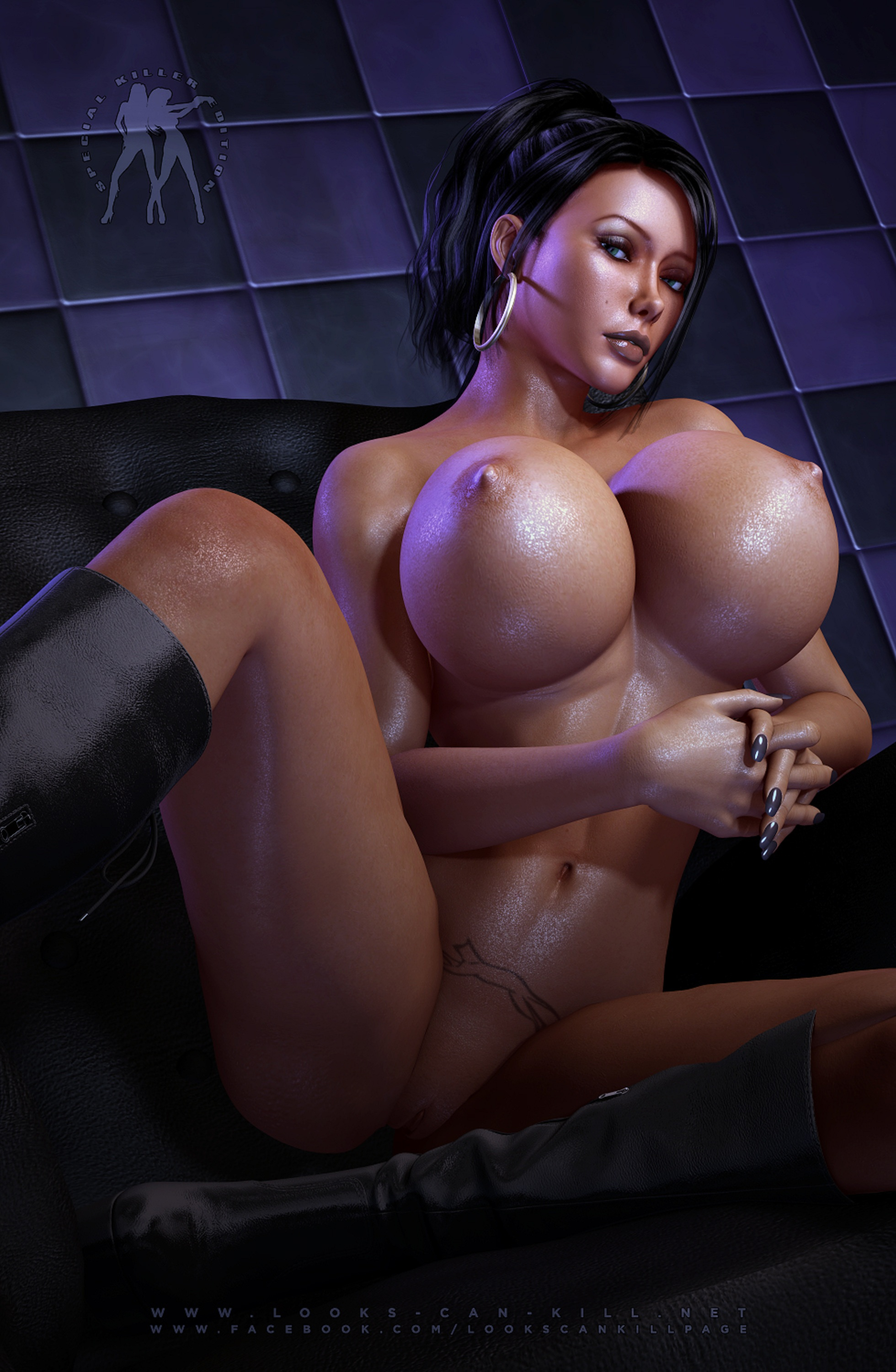 3d woman muscle breast gif hentai picture