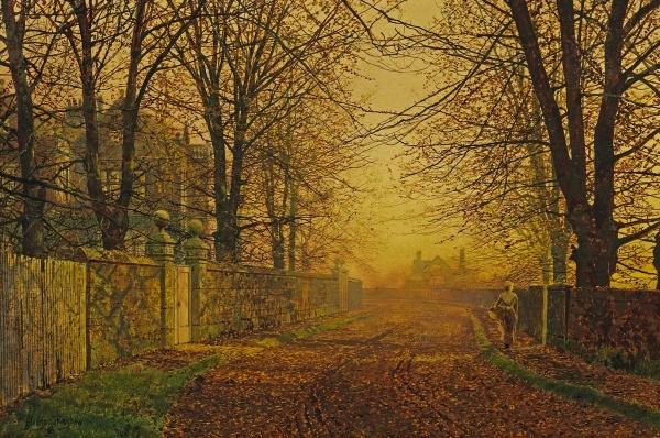 Работы художника Джон Эткинсон Гримшоу (John Atkinson Grimshaw) (140 фото)