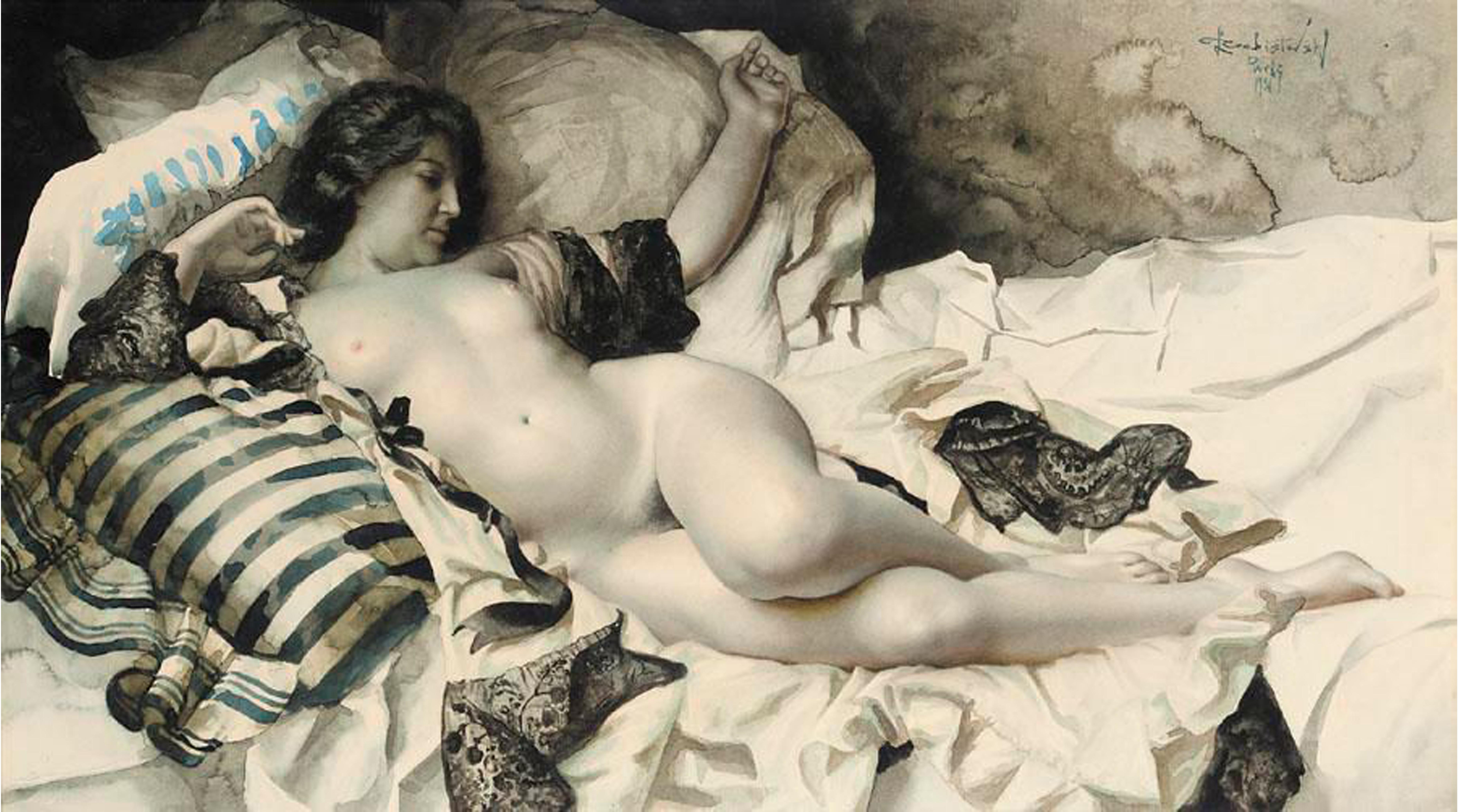 Ретро рисунки голых женщин, Старые, классические, ретро эротические фотографии 7 фотография