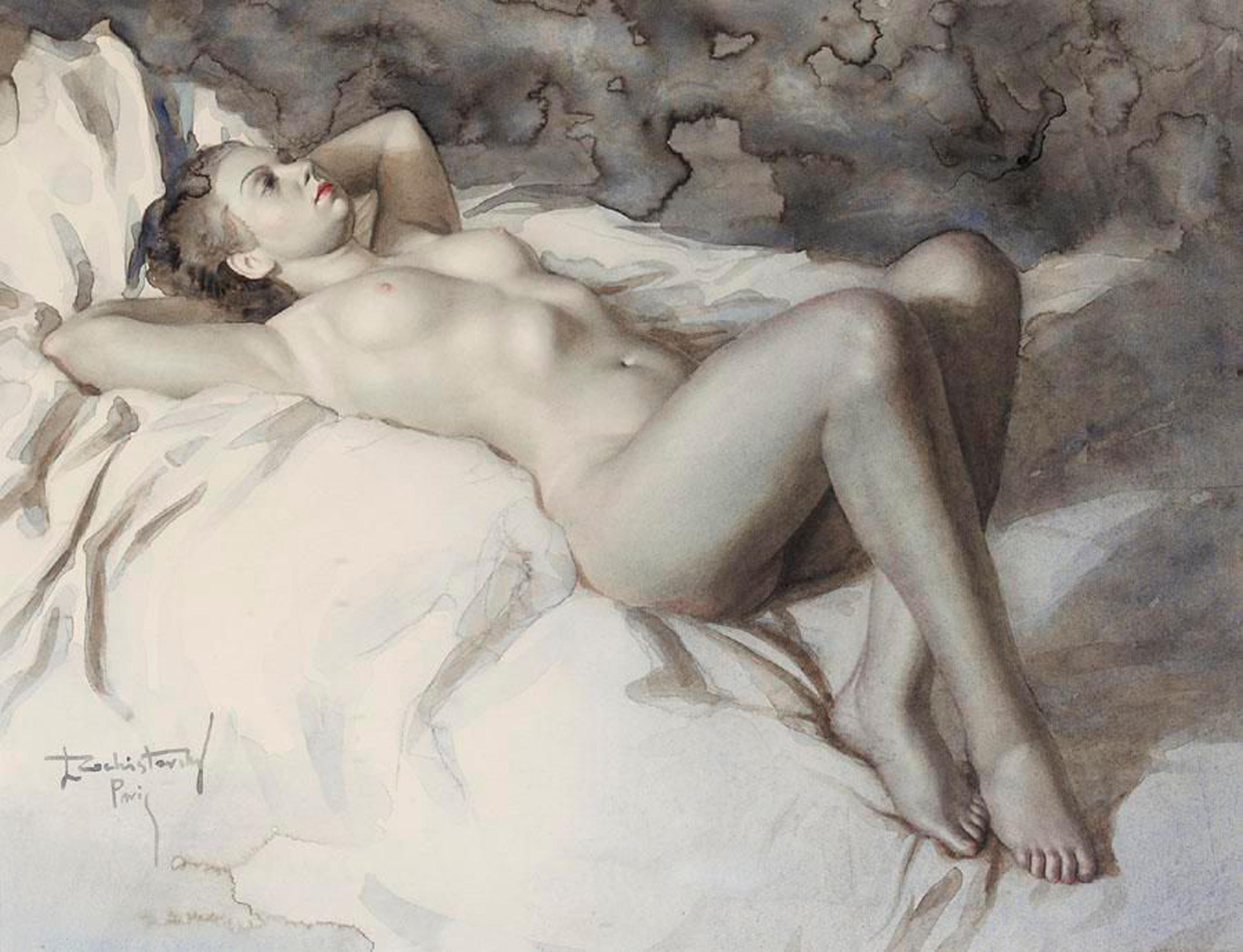 Художница рисует голого мужика, Дочь художница рисует с натуры папин член, сосёт его 9 фотография