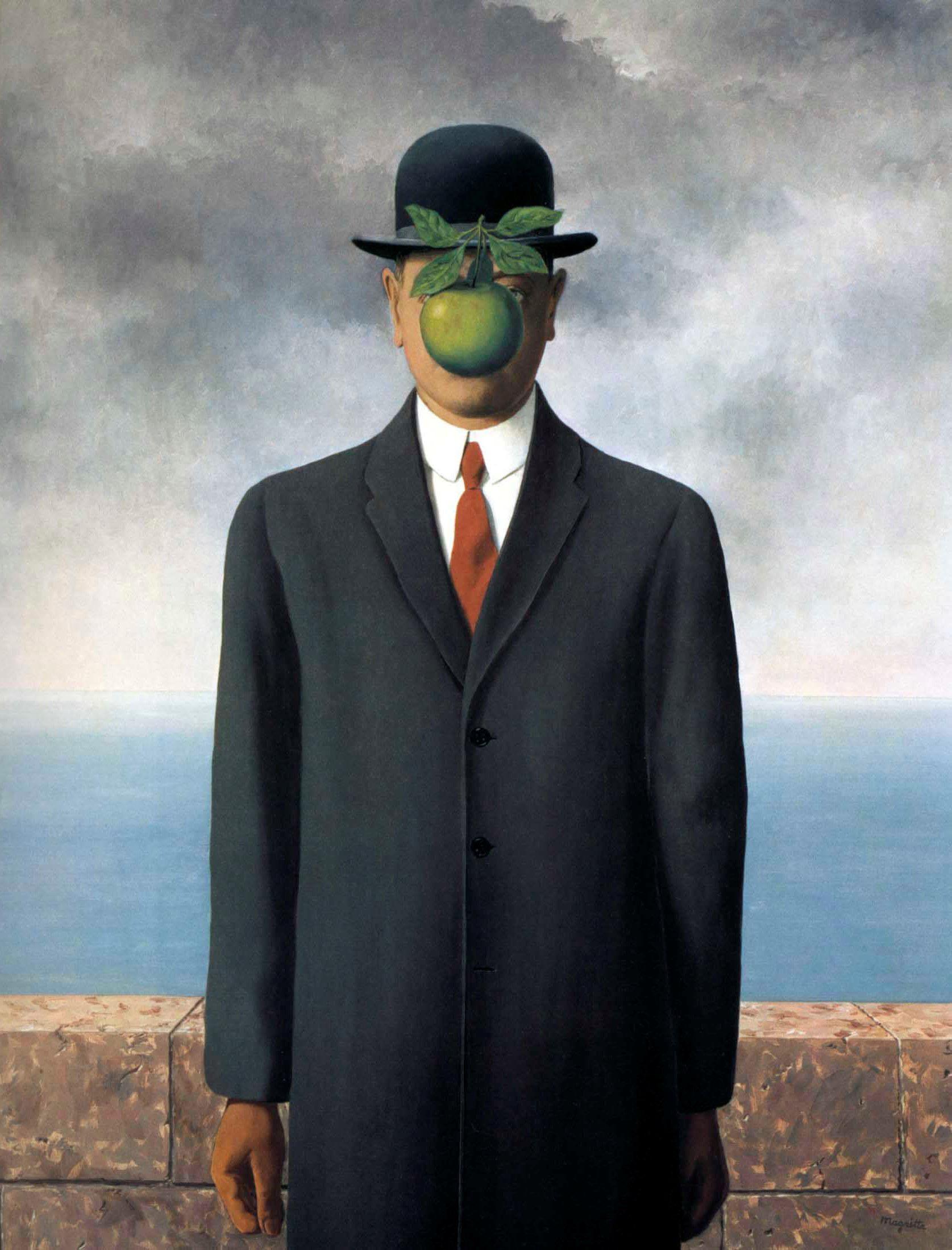 Человек с яблоком вместо лица 3 фотография