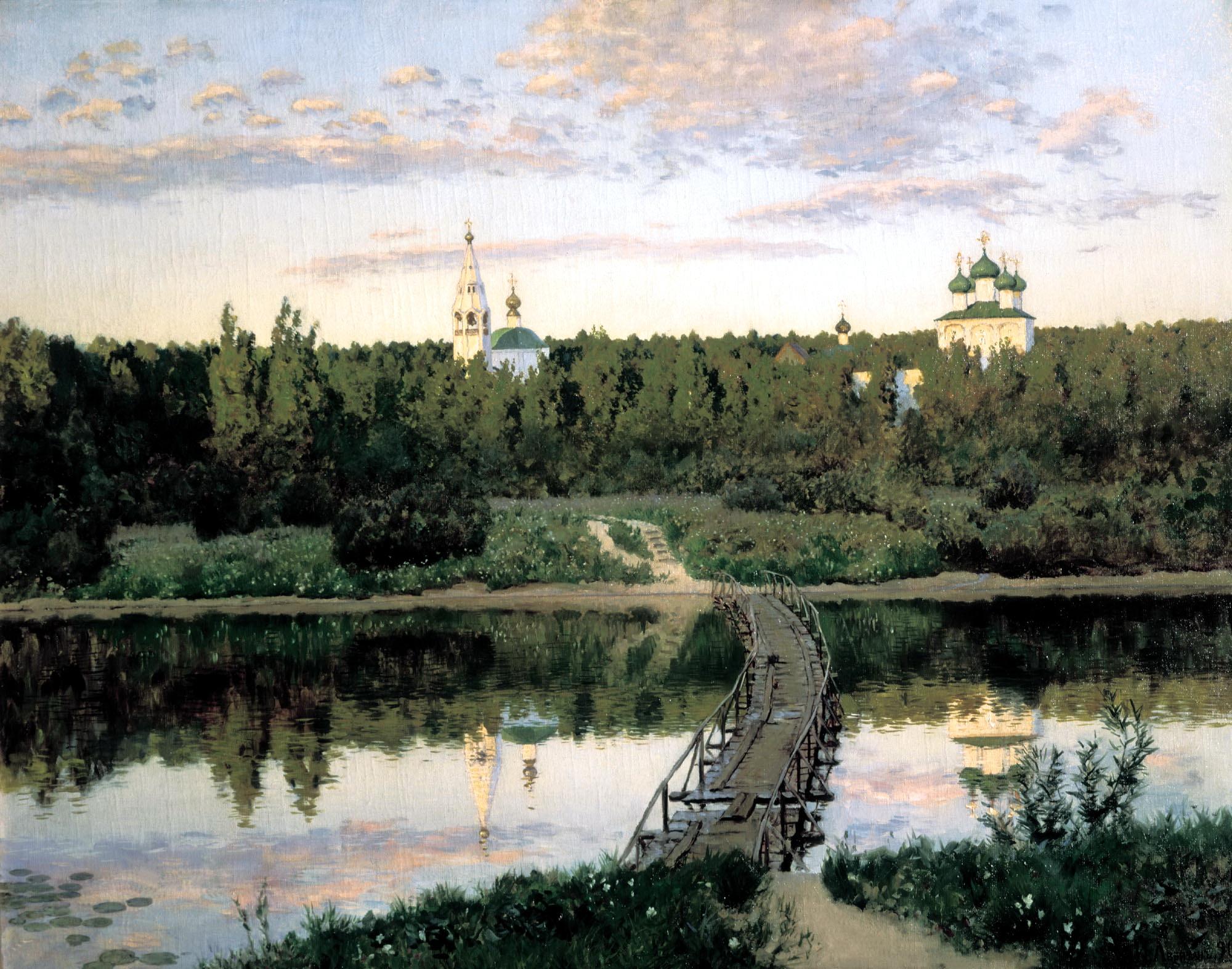 картины художников монастырь фото превращения нимфу