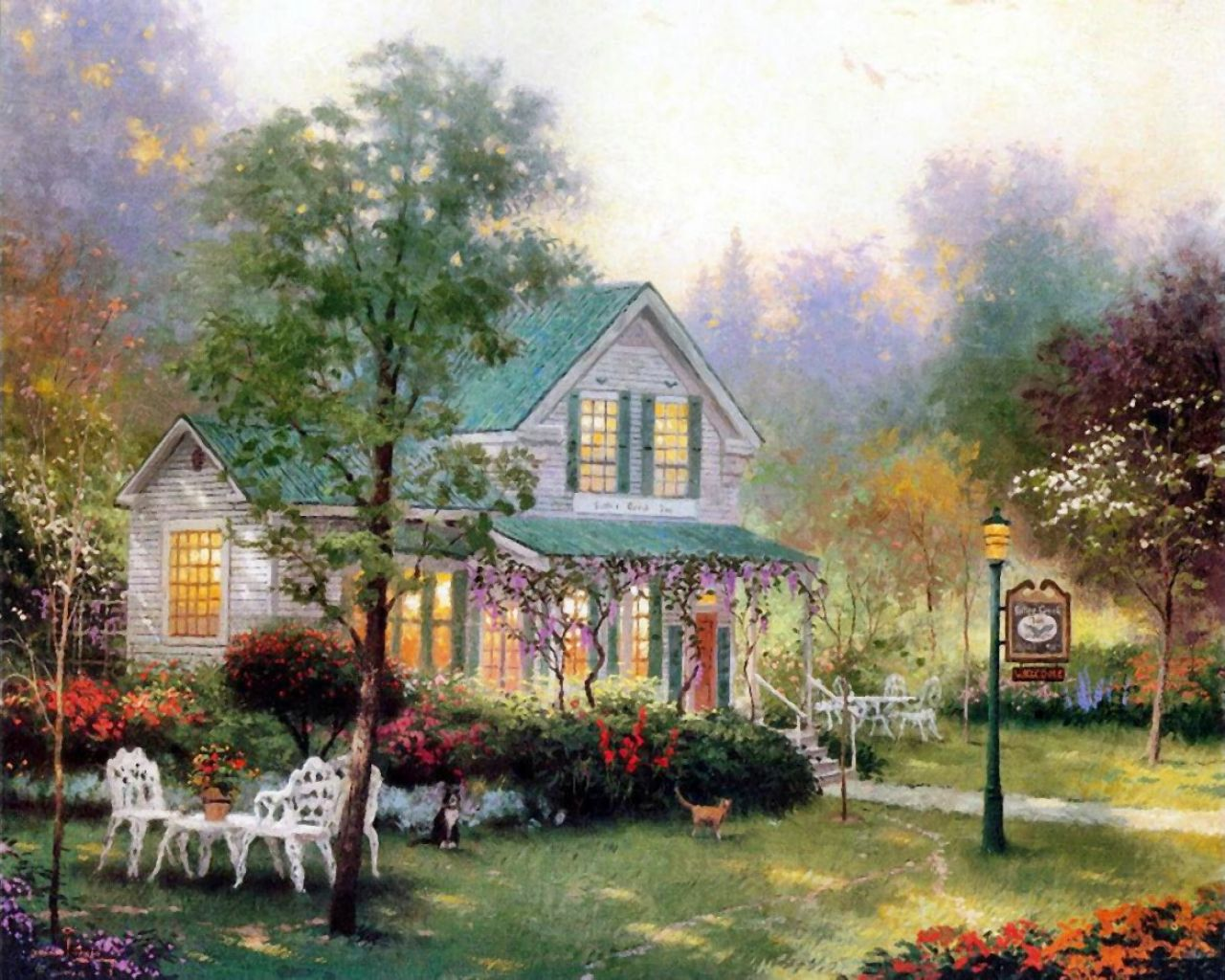 reproduction businesses of thomas kinkades painting Thomas kinkade reproductions by sunny thomas kinkade, born in 1958, grew up in a small quiet town in california named placerville along the foothills of the sierra mountains by age six, his interest in art was obviously growing at an impressive rate and by age sixteen he was already accomplished enough in oil painting to begin working.