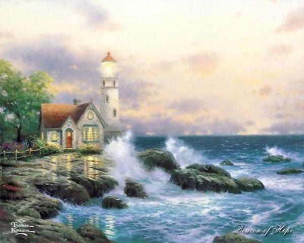 Красивые картины художника Томаса Кинкейда (Thomas Kinkade) (249 фото)