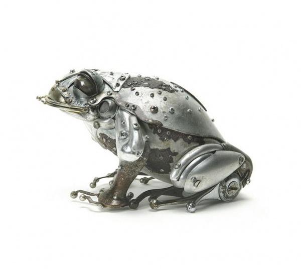 Животные из металлолома от Edouard Martinet (82 фото)