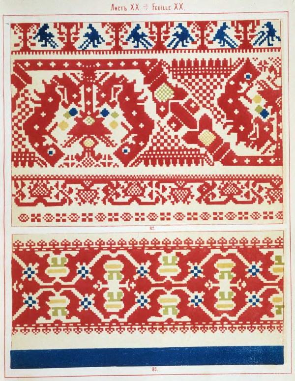Русские народные орнаменты - вышивание (39 фото)